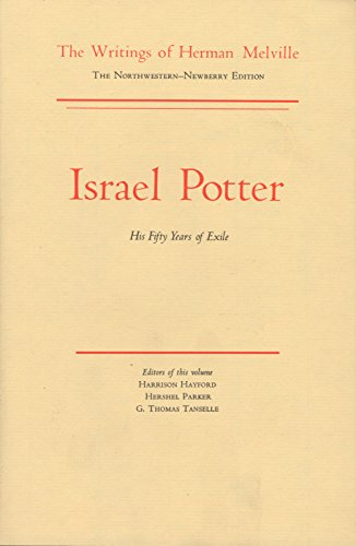 Israel Potter: His Fifty Year of Exile,: Herman Melville
