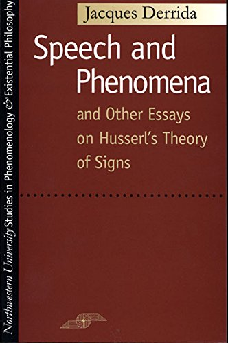 9780810105904: Speech and Phenomena, and Other Essays on Husserl's Theory of Signs (Studies in Phenomenology and Existential Philosophy)