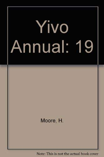 Yivo Annual 19 (9780810109254) by Dan Miron; Deborah Dash Moore; Gerald Sorin; Jack Kugelmass; Steve Stern; Janet Hadda; Paula E Hyman; Mark Slobin; Arthur A Goren