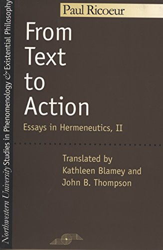 9780810109780: From Text to Action (Studies in Phenomenology and Existential Philosophy)