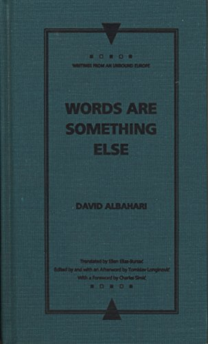 9780810113053: Words Are Something Else (Writings From An Unbound Europe)