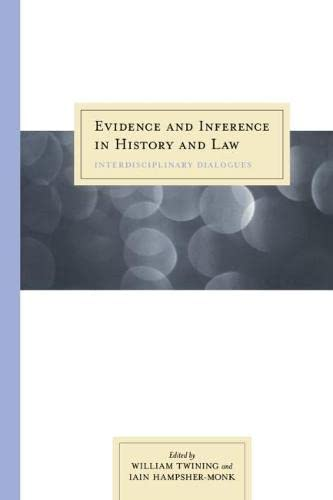 9780810117563: Evidence and Inference in History and Law OP: Interdisciplinary Dialogues
