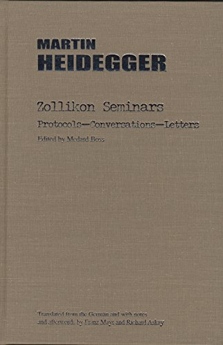 9780810118324: Zollikon Seminars: Protocols - Conversations - Letters (Studies in Phenomenology and Existential Philosophy)