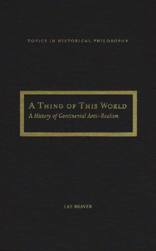 9780810123793: A Thing of This World: A History of Continental Anti-Realism (Topics in Historical Philosophy)