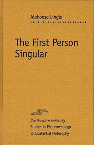 9780810124127: The First Person Singular (Studies in Phenomenology and Existential Philosophy)