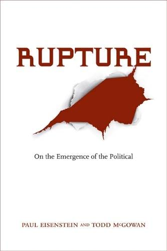 9780810128514: Rupture: On the Emergence of the Political