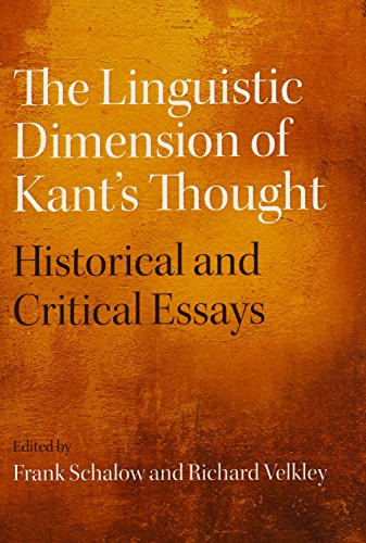 9780810129962: The Linguistic Dimension of Kant's Thought: Historical and Critical Essays