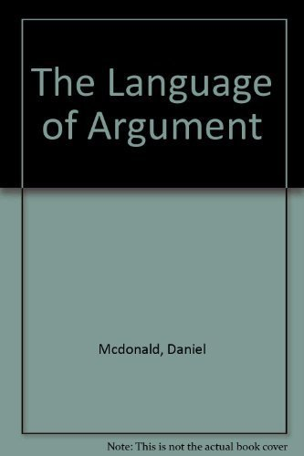 9780810204027: The language of argument