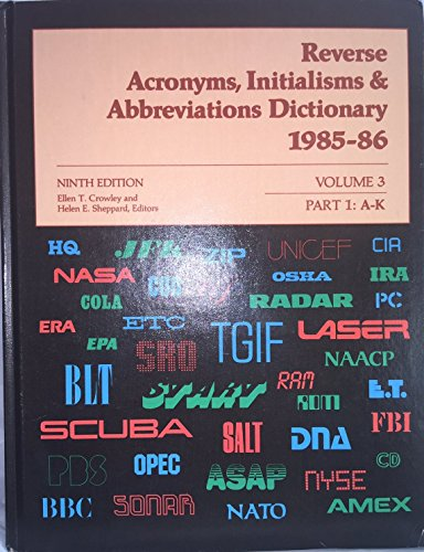 Acronyms, Initialisms, & Abbreviations Dictionary: Vol. 3,: n/a