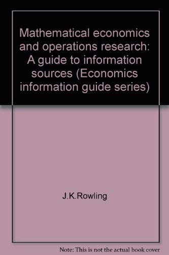 Mathematical economics and operations research: A guide: Joseph Zaremba