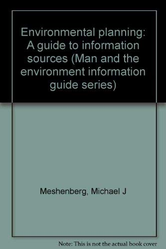 9780810313408: Environmental planning: A guide to information sources (Man and the environment information guide series)