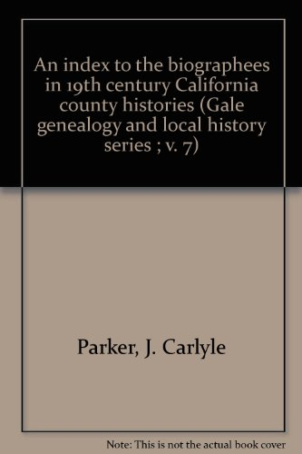 An index to the biographees in 19th: Parker, J. Carlyle