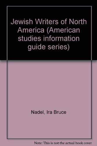 Jewish Writers of North America (Gale information guide library) (0810314843) by Nadel, Ira Bruce