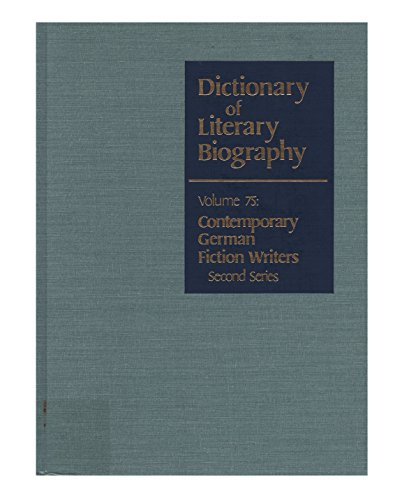 9780810345539: Dictionary of Literary Biography: Contemporary German Fiction Writers