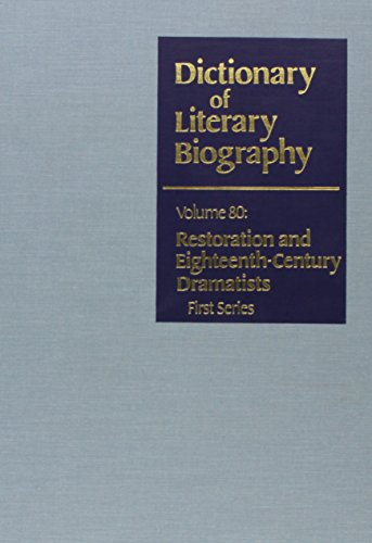 9780810345584: Dictionary of Literary Biography: Restoration Dramatists