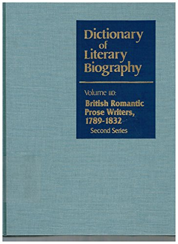 9780810345904: Dictionary of Literary Biography: British Romantic Prose Writers 1789-1832