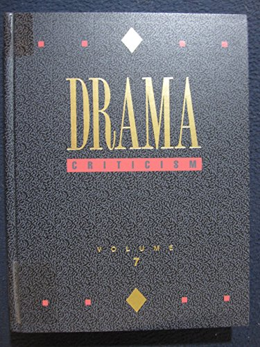 9780810355323: Drama Criticism: Excerpts from Criticism of the Most Significant and Widely Studied Dramatic Works