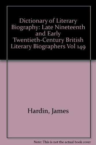 Dictionary of Literary Biography, Vol 149: Serafin, Steven