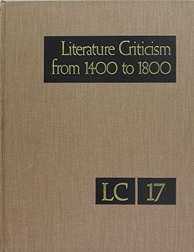 9780810361164: Literature Criticism from 1400 to 1800