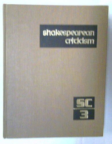 9780810361270: Shakespearean Criticism: Vol 3