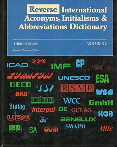 Reverse International Acronyms, Initialisms & Abbreviations Dictionary: n/a