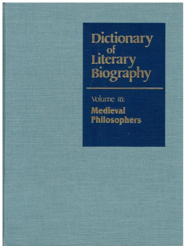 9780810375925: Dictionary of Literary Biography: Medieval Philosophers