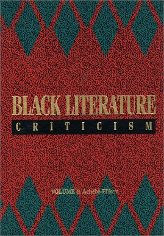 Black Literature Criticism 1 3v (v. 1-3): Draper, James P.