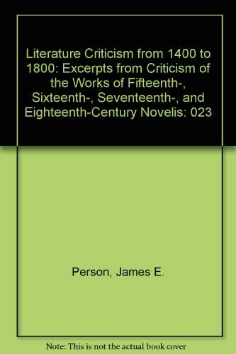 9780810379657: Literature Criticism from 1400 to 1800