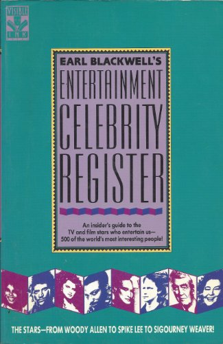 Earl Blackwell's Entertainment Celebrity Register Celebrity Service: Celebrity Service International