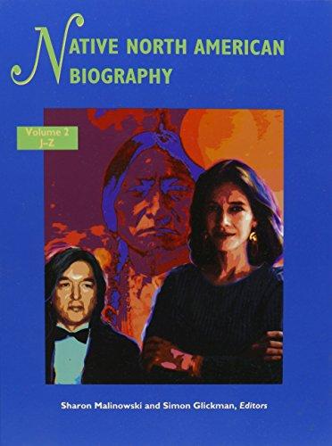 Native North American Biography Edition 1. (Native: Sharon Malinowski, Simon