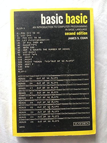 9780810451063: Basic BASIC: An introduction to computer programming in BASIC language (Hayden computer programming series)