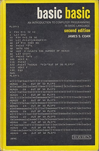 9780810451070: Basic BASIC: An introduction to computer programming in BASIC language (Hayden computer programming series)