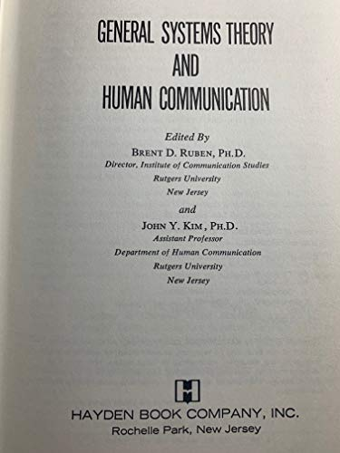 9780810459410: General systems theory and human communication