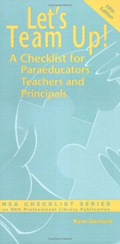 9780810621633: Let's Team Up: A Checklist for Paraeducators, Teachers and Principals