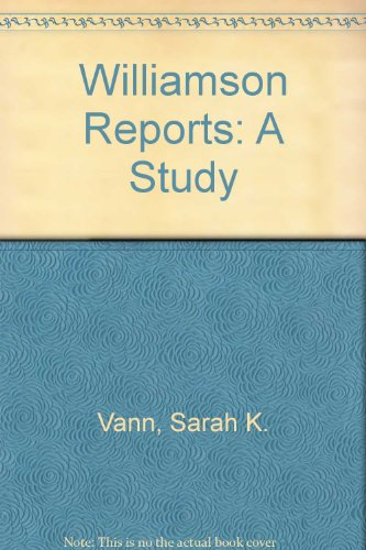 9780810803756: The Williamson Reports: A Study