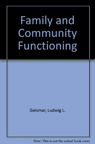 9780810804159: Family and Community Functioning