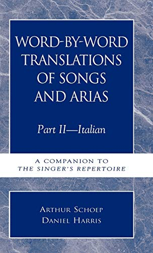 Word-by-Word Translations of Songs and Arias, Part: Daniel Harris; Arthur