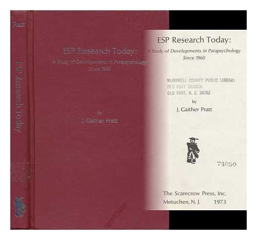 9780810806092: E.S.P. Research Today: A Study of Developments in Parapsychology Since 1960