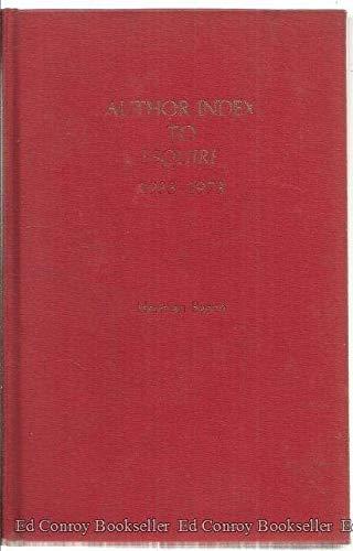 Author Index to Esquire, 1933-1973: Herman Baron