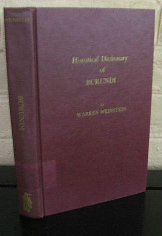 Historical Dictionary of Burundi (African Historical Dictionaries)