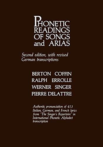 Phonetic Readings of Songs and Arias: Berton Coffin
