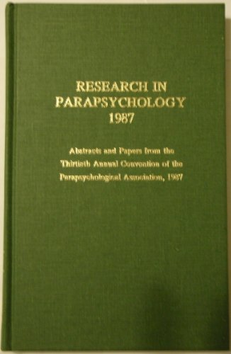 9780810821286: Research in Parapsychology 1987