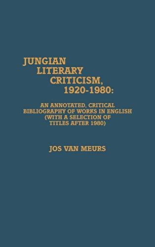 9780810821606: Jungian Literary Criticism, 1920-1980