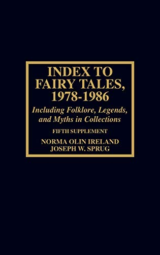 9780810821941: Index to Fairy Tales, 1978-1986, Fifth Supplement