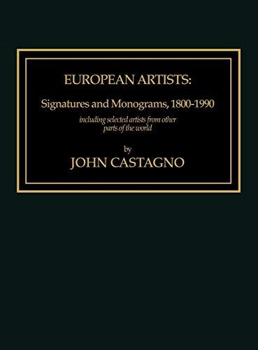 9780810823136: European Artists: Signatures and Monograms, 1800 - 1900