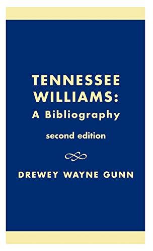 9780810824959: Tennessee Williams