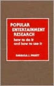 Popular Entertainment Research: Pruett, Barbara J.