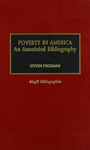 9780810828339: Poverty in America. An Annotated Bibliography