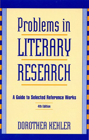 9780810832169: Problems in Literary Research