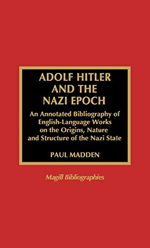 9780810835580: Adolf Hitler and the Nazi Epoch